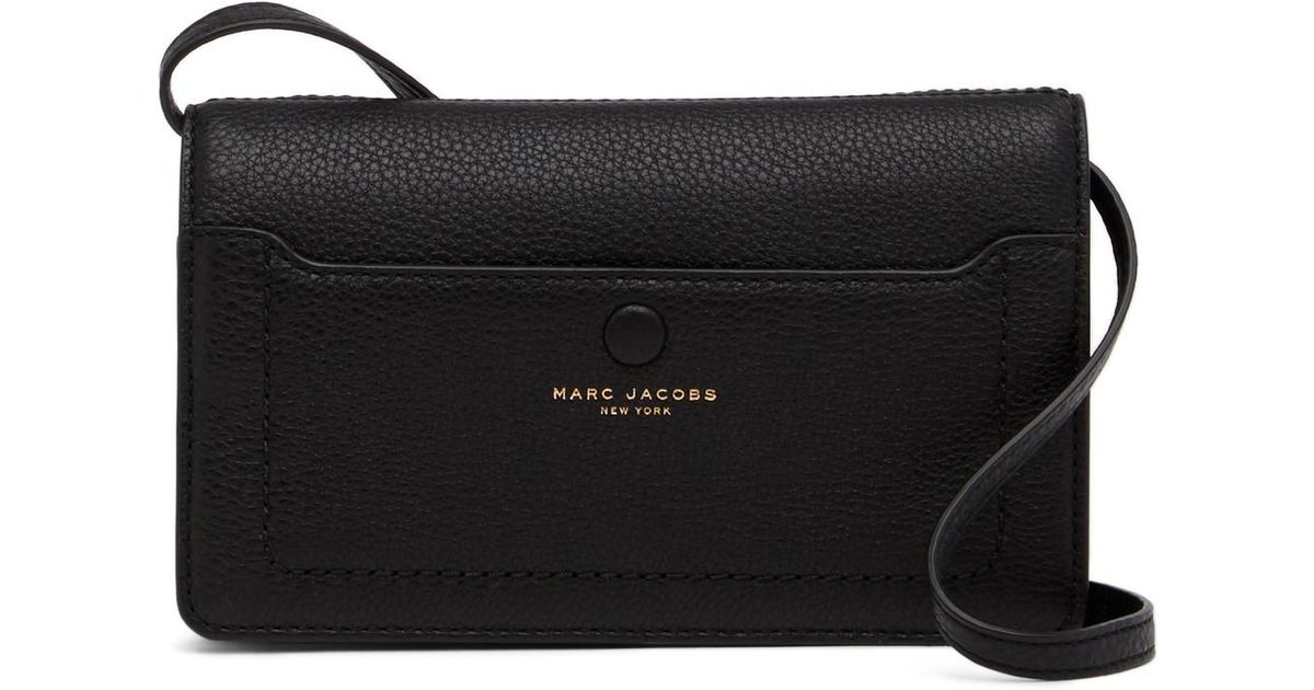 89a68f9fce4 Marc Jacobs Empire City Str Leather Wallet in Black - Lyst