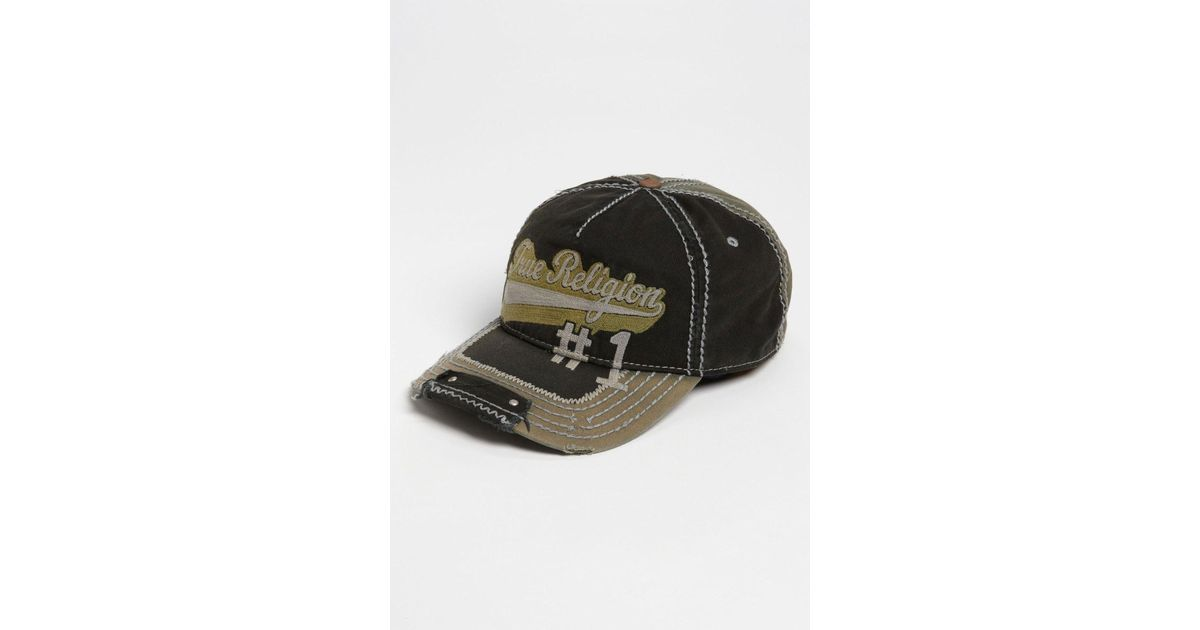 3f97dbfc True Religion Script Baseball Cap in Black for Men - Lyst