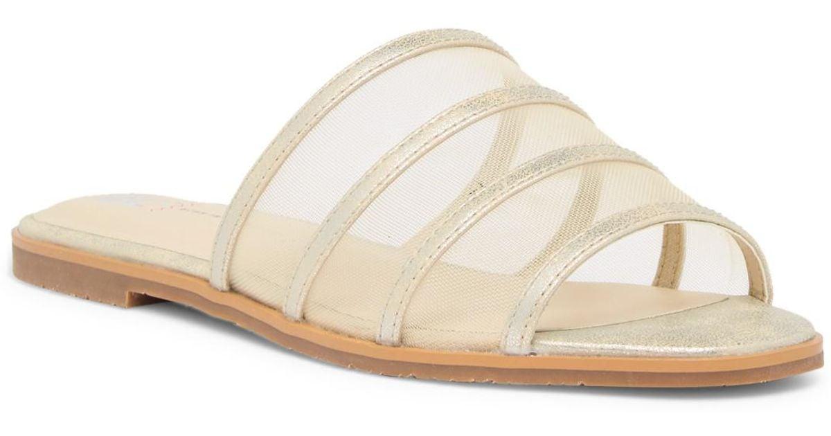 0a6bf0f9e528e Lyst - BC Footwear Show Me How Vegan Sandal in Metallic