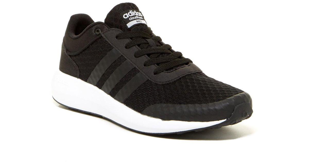 Adidas Black Cloudfoam Race Sneaker for men