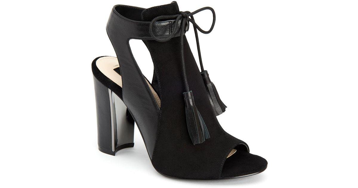 865a5c149de384 Lyst - Jones New York Jemma Peep Toe Block Heel in Black