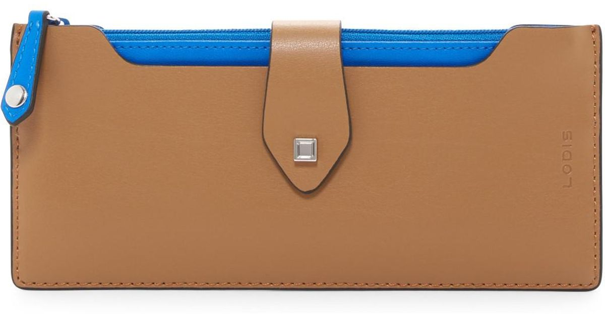 e13f4c580fa2 Lodis Blair Multi-pouch Leather Wallet in Blue - Lyst