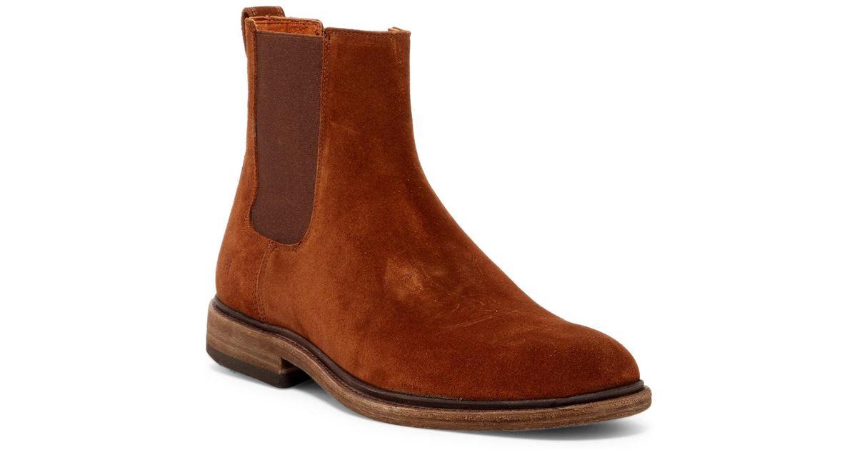 da9272ea40f Lyst - Frye Chris Suede Chelsea Boot in Brown for Men