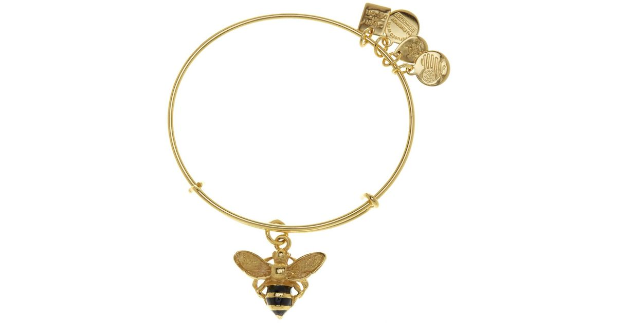 Lyst Alex And Ani Charity By Design Ble Bee Charm Expandable Wire Bangle In Metallic