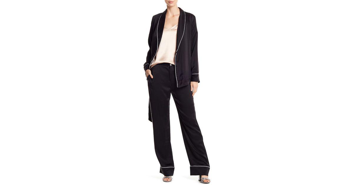 7ba14411c2 Lyst - Equipment Odette Silk Pajama 2-piece Set in Black