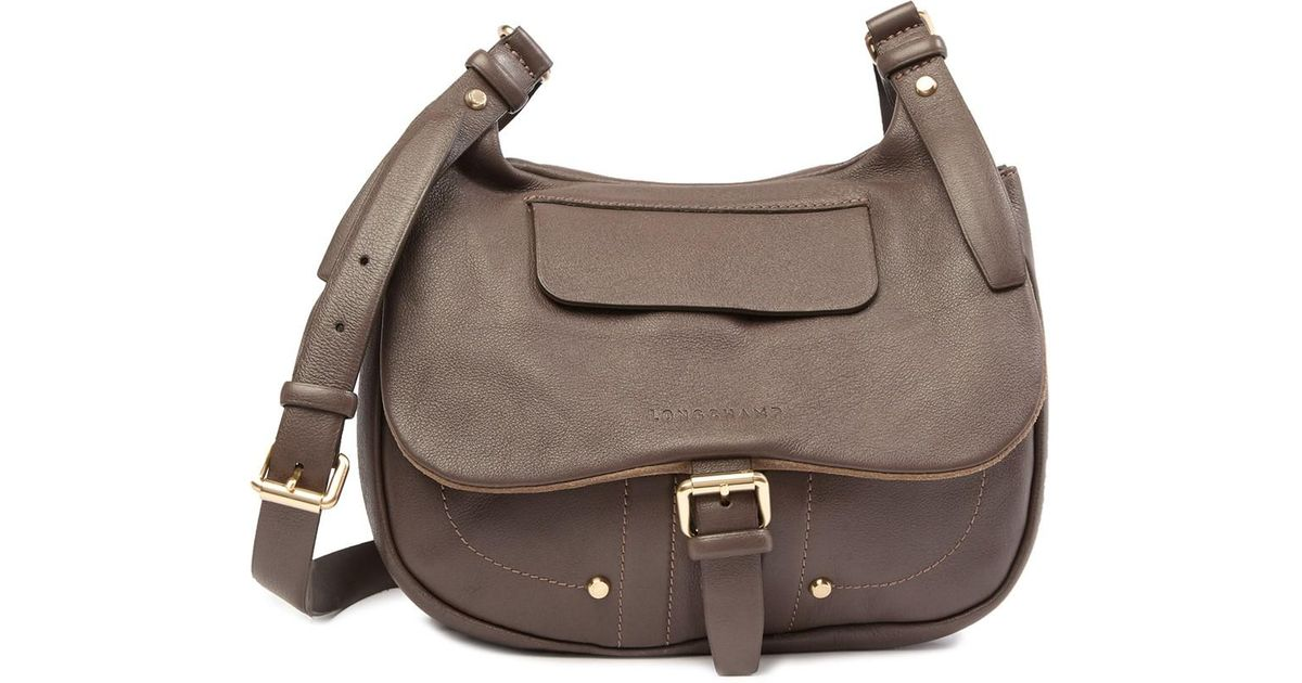 5df4e5710ee Lyst - Longchamp Balzane Leather Messenger Bag in Brown