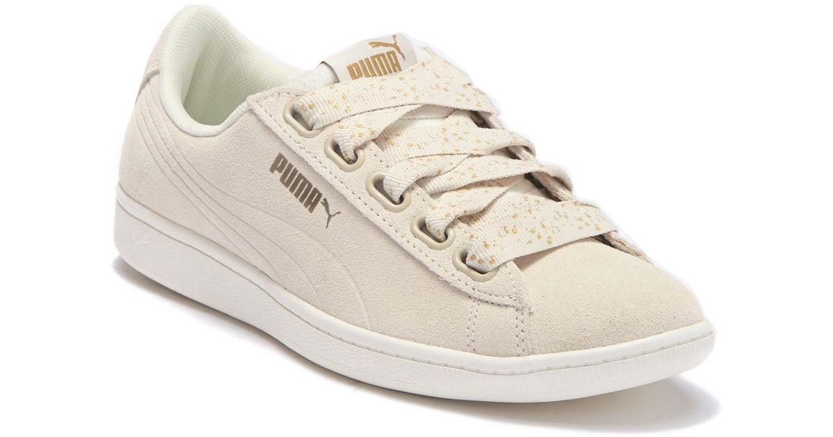 puma vikky ribbon dots sneakers