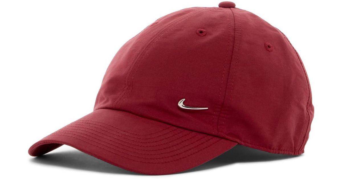 aec3645a441 ... black 546178 657 4551d 077fd  where can i buy lyst nike metal swoosh cap  in red 2f6ca 0b7ea