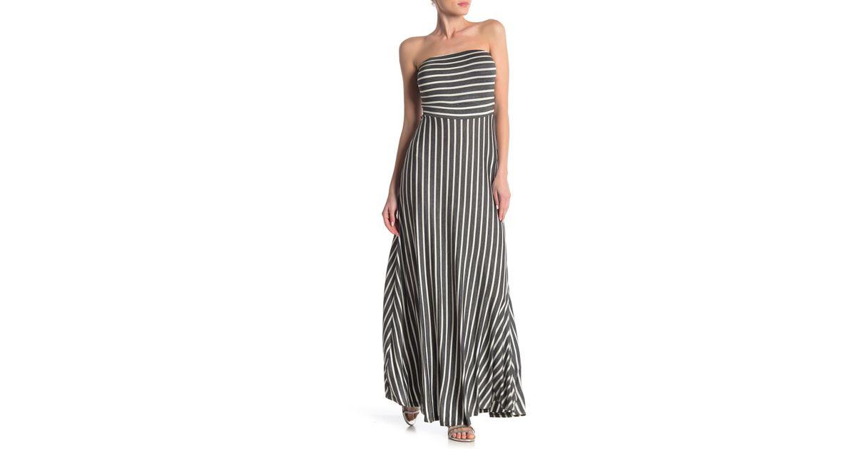 ef316c5fdda Lyst - West Kei Strapless Stripe Maxi Dress in Black
