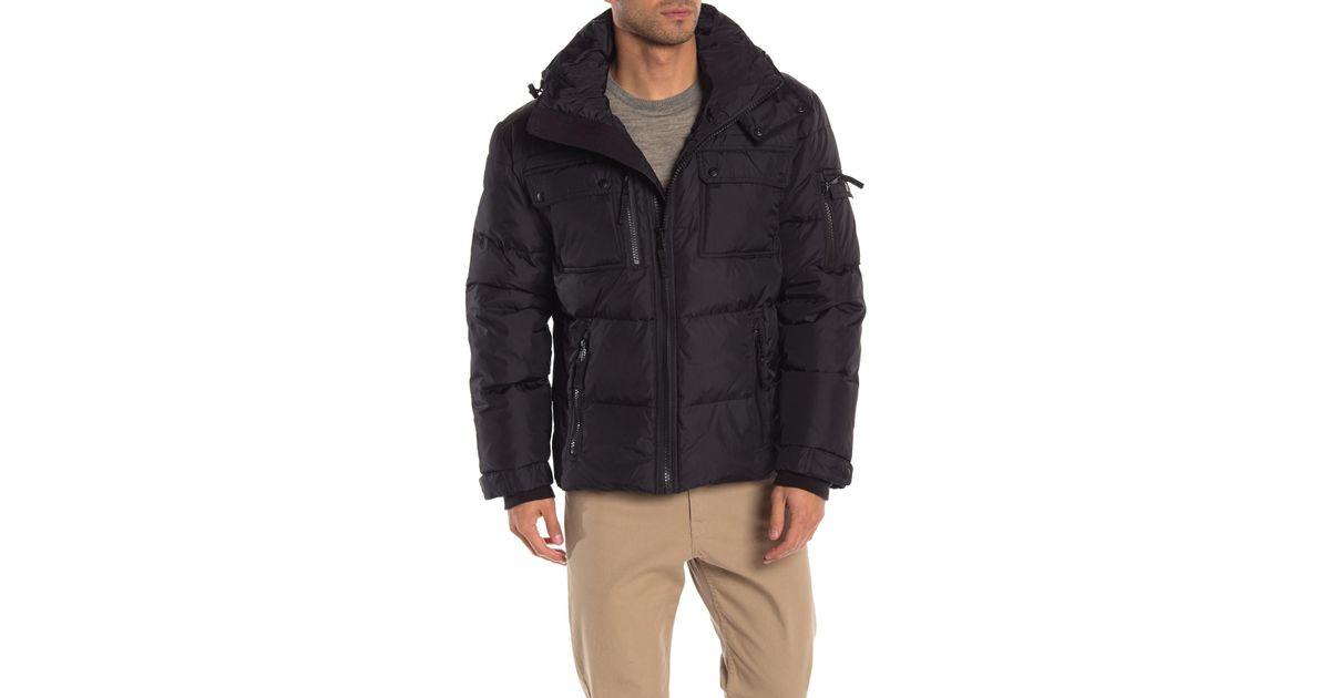 S13 Mens Summit Quilted Down Zip Front Coat S28366HDA