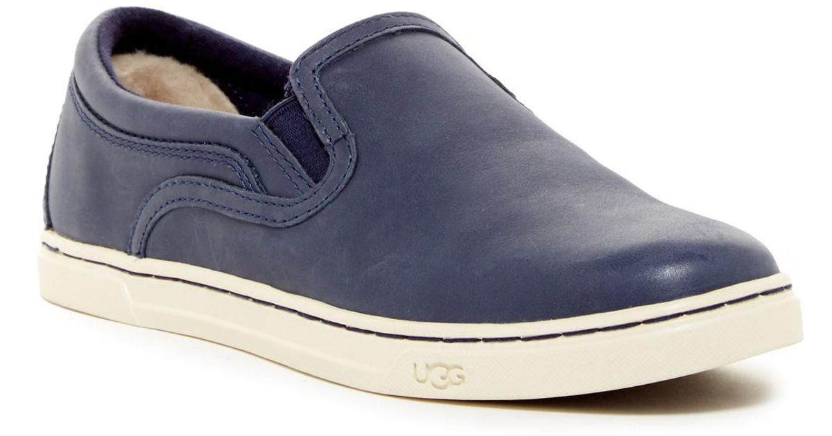 277b9d5f073 Ugg - Blue Fierce Leather Uggpure(tm) Lined Slip-on Sneaker for Men - Lyst