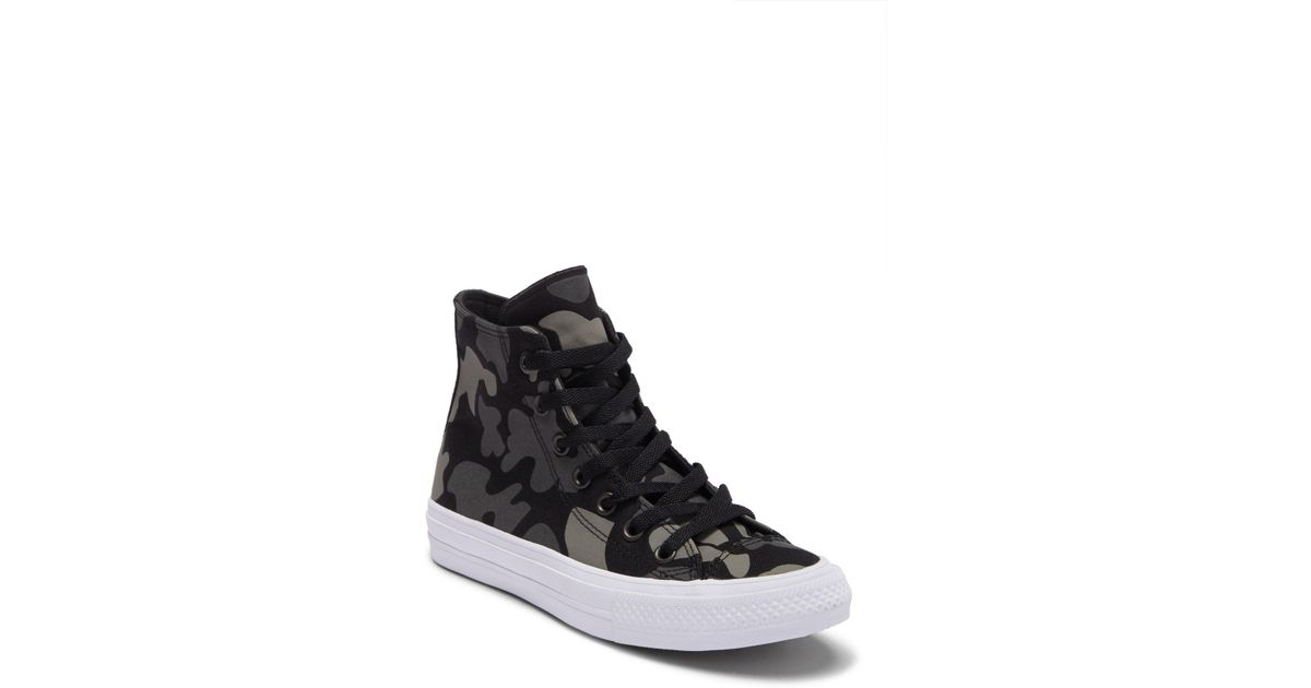 d5612616aba Converse Black Chuck Taylor(r) All Star(r) Ii Camo Print High Top Sneaker  (unisex)