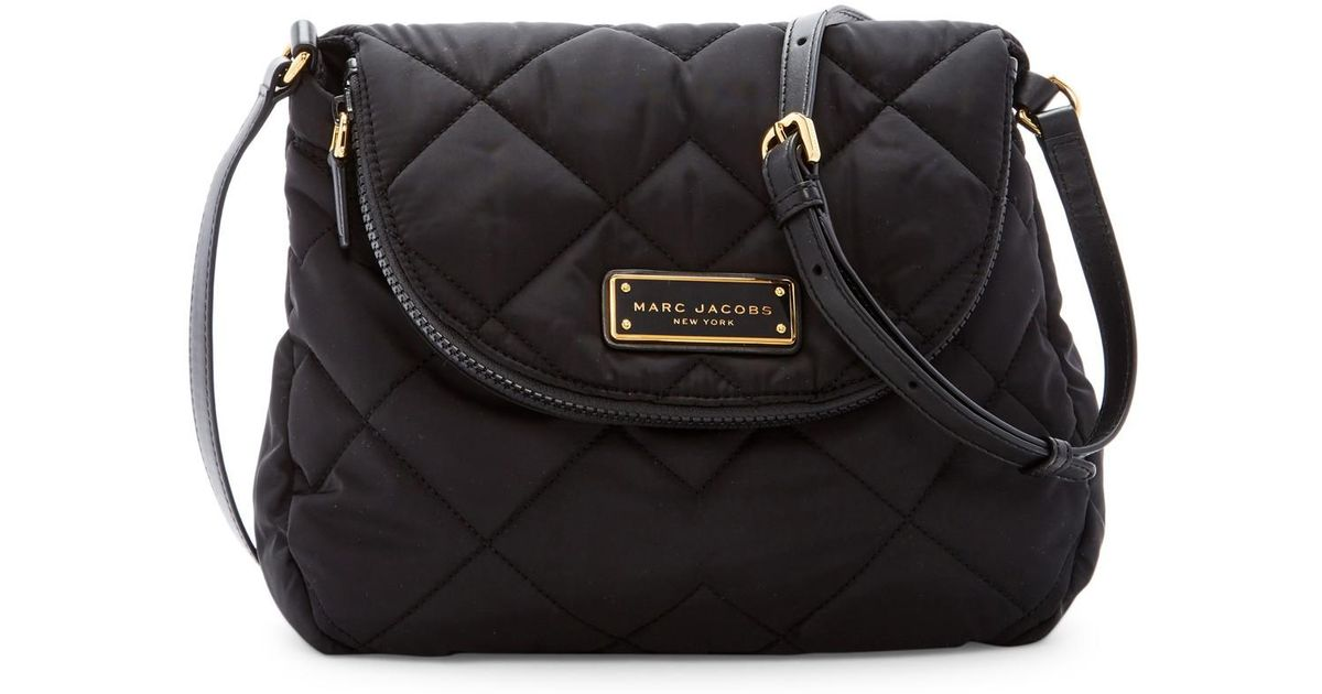 9ae5b7444c3 Marc By Jacobs Quilted Nylon Messenger Bag In Black Lyst