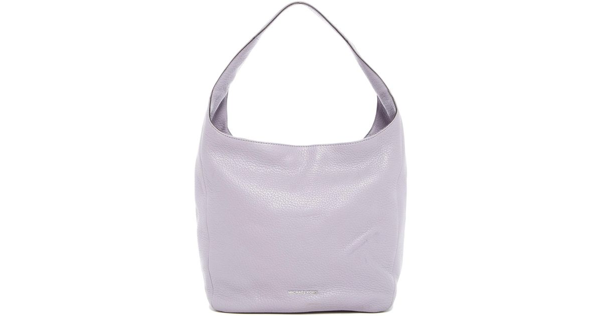 afbbb2a3b731 Lyst - Michael Michael Kors Lena Large Leather Shoulder Tote in Purple