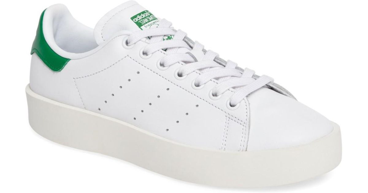 41863a10f5eb Lyst - adidas Stan Smith Bold Platform Sneaker in White