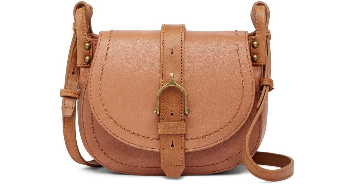 404a4e239d8e Lucky Brand Brown Aden Leather Crossbody Bag