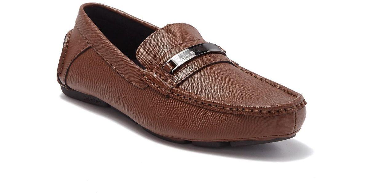 9aaff518f3098 Calvin Klein Brown Merve Weave Embossed Loafer for men