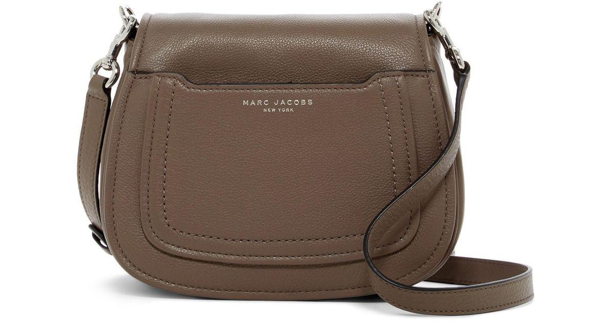 9fa5569969 Lyst Marc Jacobs Empire City Mini Messenger Leather Crossbody Bag