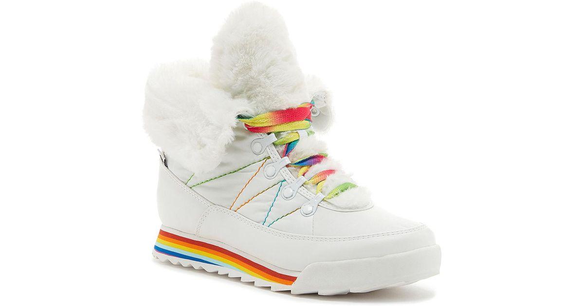 fur sneaker boots