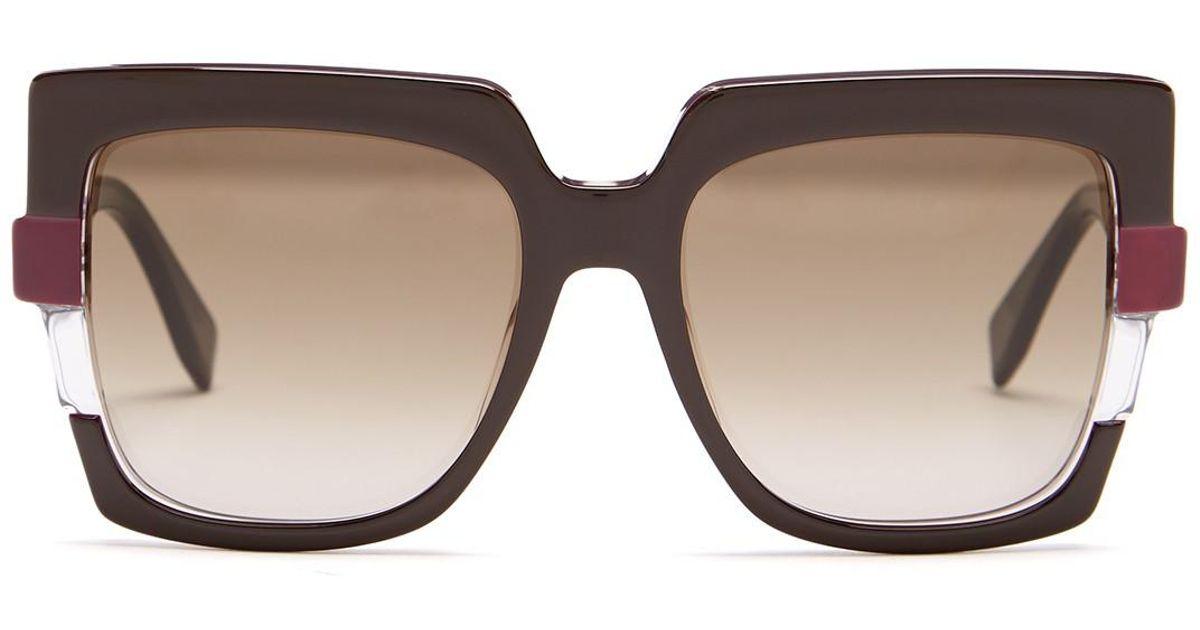 ddb08600de097 Fendi Women s Metropolis 54mm Square Sunglasses - Lyst