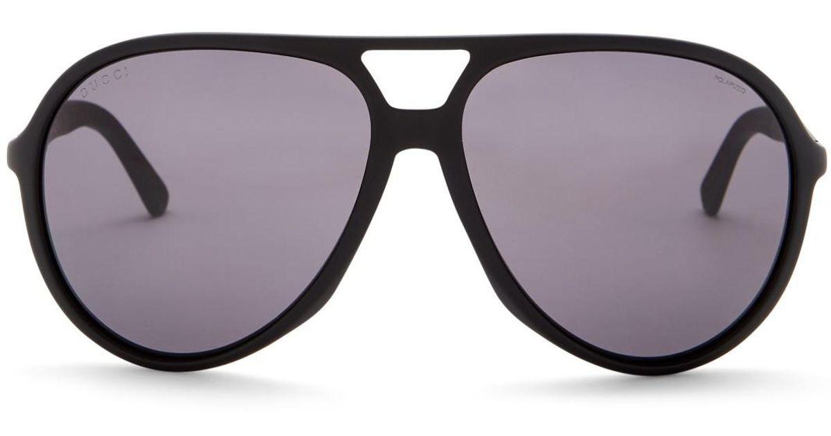 d233265cedf Lyst - Gucci Men s Aviator Acetate Frame Sunglasses for Men