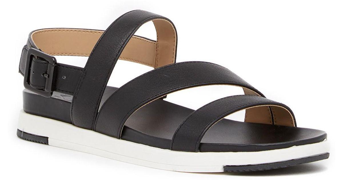 3f6ce2933316 Lyst - Naturalizer Andrea Colorblock Strap Sandals in Black