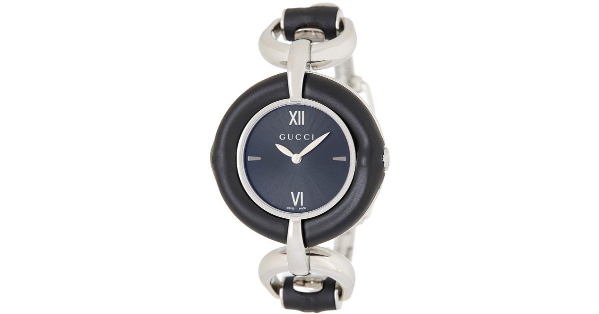 ae00e6e4371 Lyst - Gucci Women s Bamboo Bangle Watch
