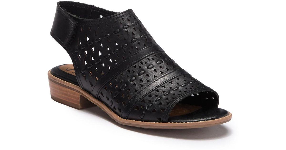 Natalee Perforated Peep Toe Sandal
