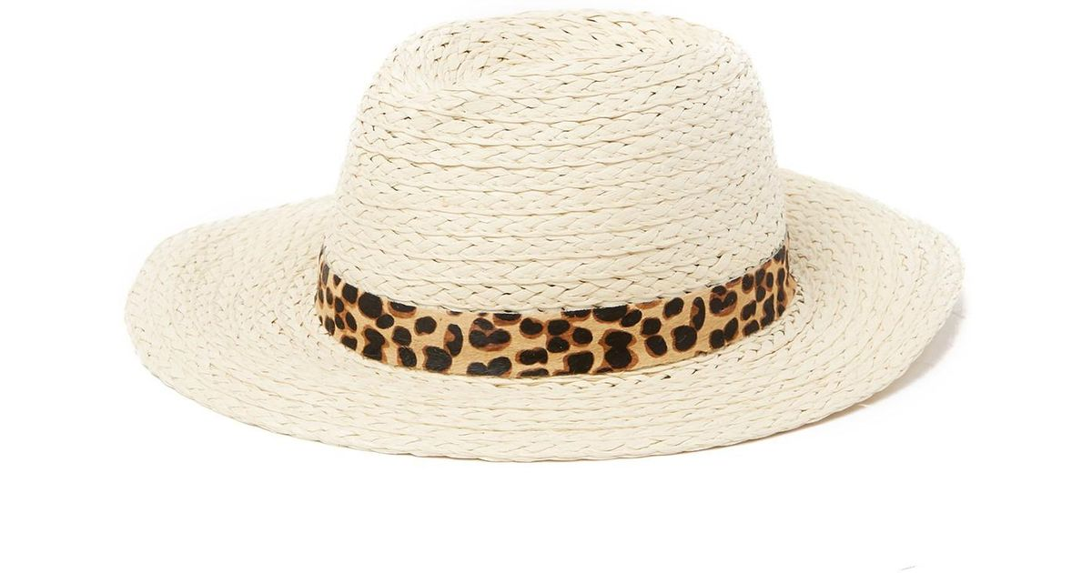 beed32f00 Vince Camuto Natural Genuine Pony Hair Banded Panama Hat