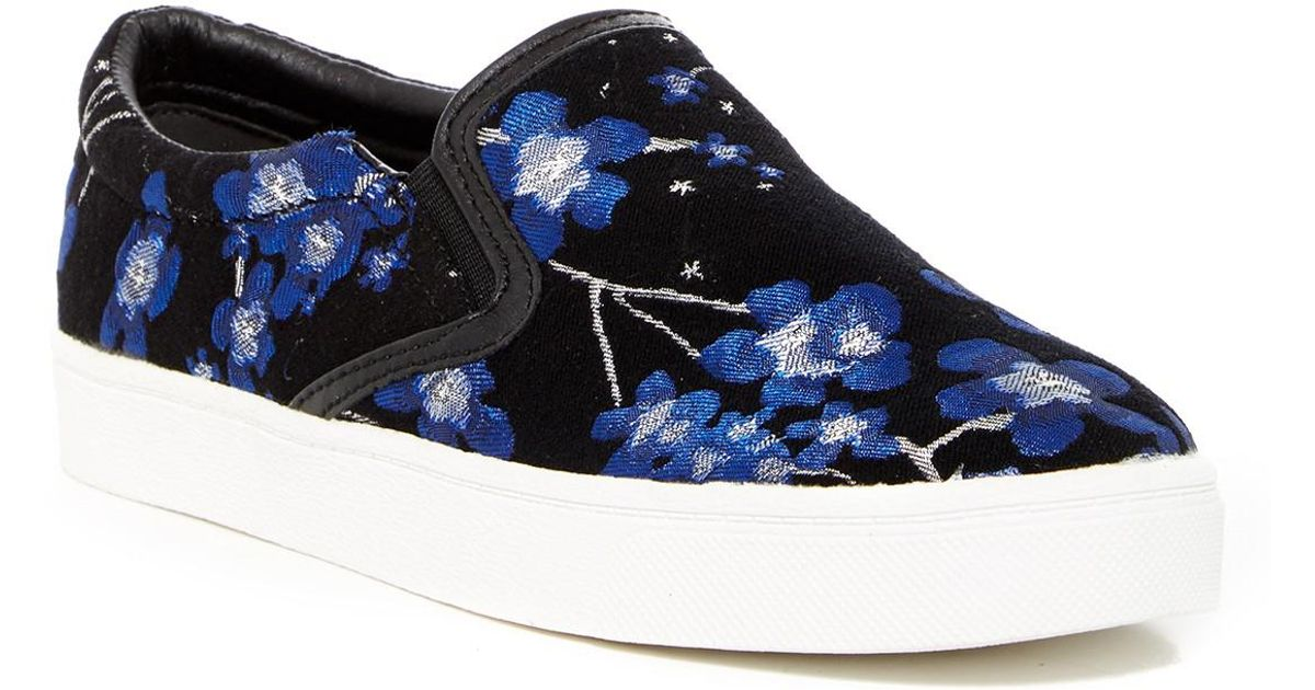 82f7070bb7e531 Lyst - Sam Edelman Marvin Floral Slip-on Sneaker in Blue
