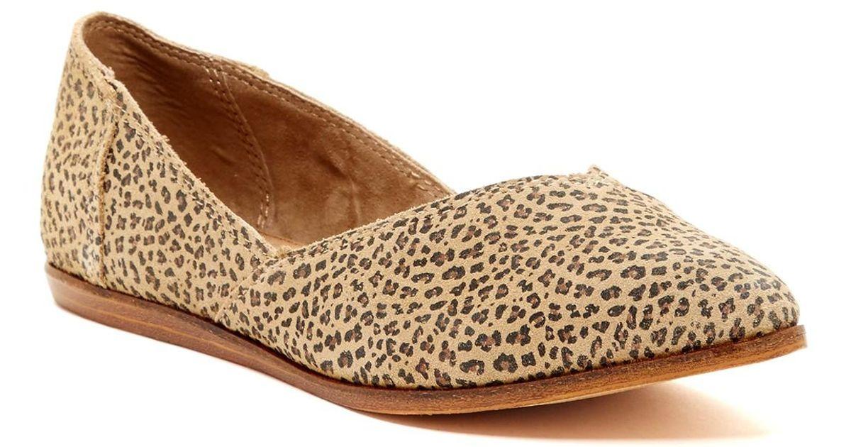 TOMS Jutti Suede Cheetah Flat in Brown
