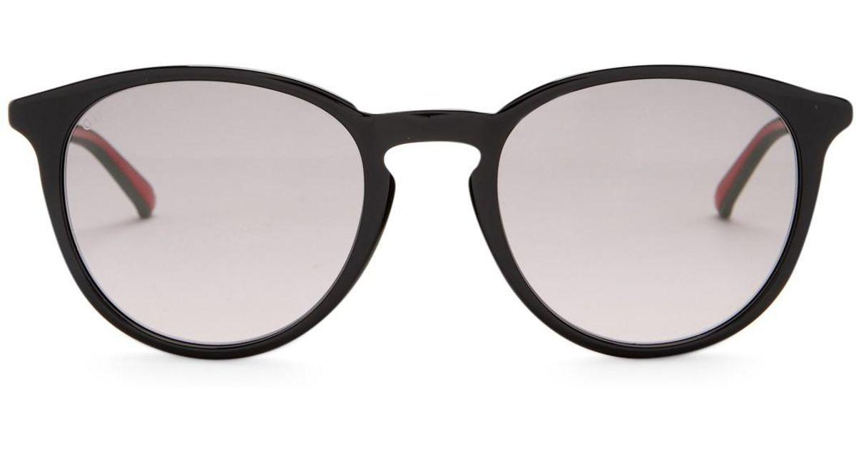 a28dba19ae8 Lyst - Gucci Men s Round Retro Acetate Frame Sunglasses for Men