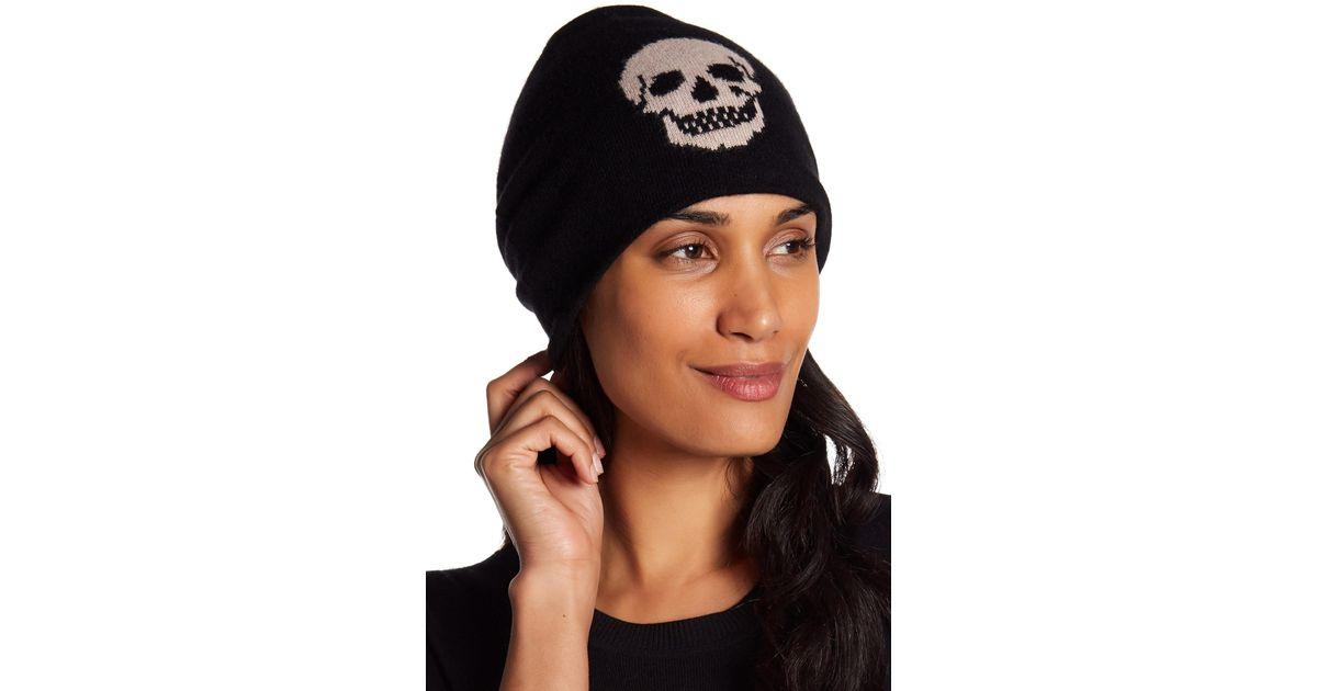 fc30d4b530a28 360cashmere Mila Cashmere Skull Beanie in Black - Lyst