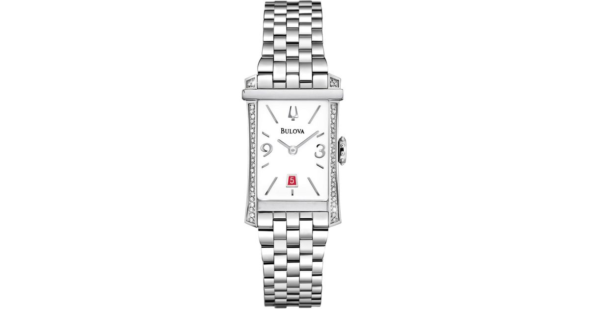 Bulova Women s Winslow Diamond Bracelet Watch 0 26 Ctw in