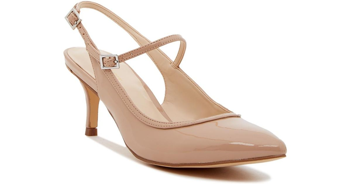 cda87f3faca Lyst - Nine West Majest Mary Jane Slingback Pump - Wide Width Available in  Natural