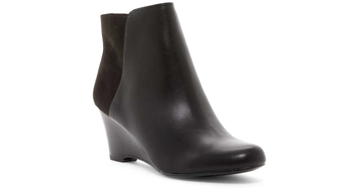 1793b262a28 Lyst - Naturalizer Hilma Wedge Ankle Boot - Wide Width Available in Black