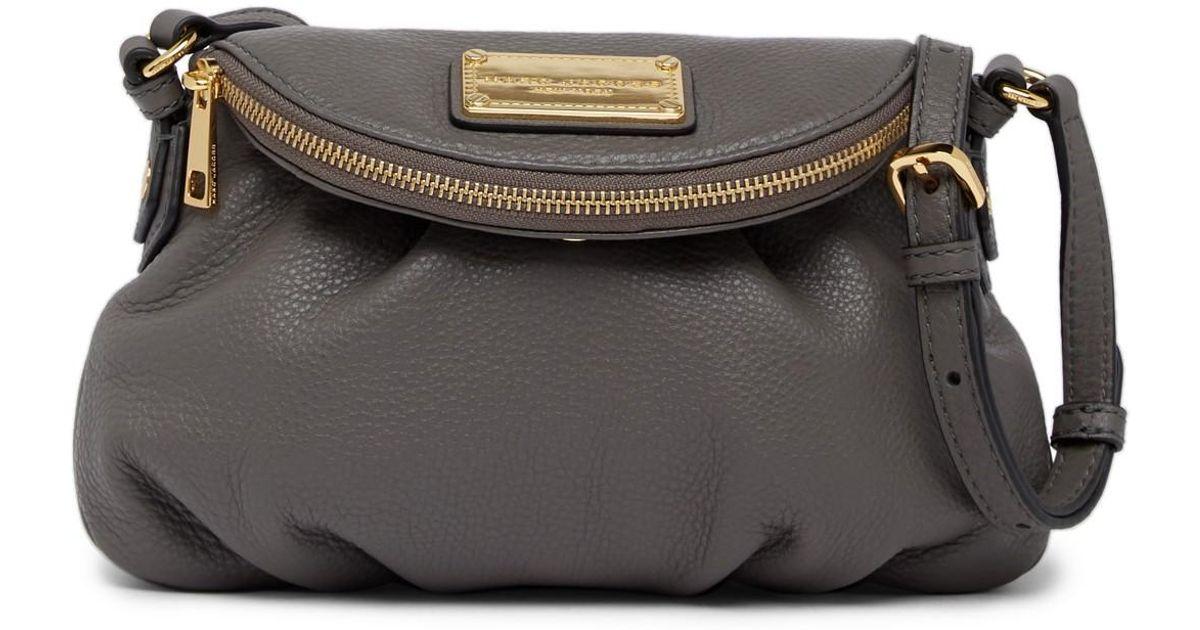b4a65fc0f509 Lyst - Marc Jacobs Classic Mini Leather Messenger Bag in Black