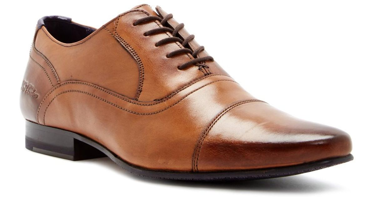 c2586b9b606d5 Lyst - Ted Baker Rogrr 2 Leather Cap Toe Oxford in Brown for Men