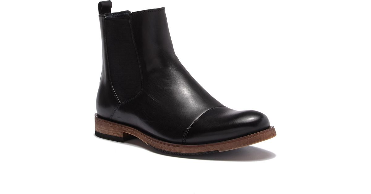 69256cd681407 English Laundry Albans Cap Toe Chelsea Leather Boot in Black for Men - Lyst