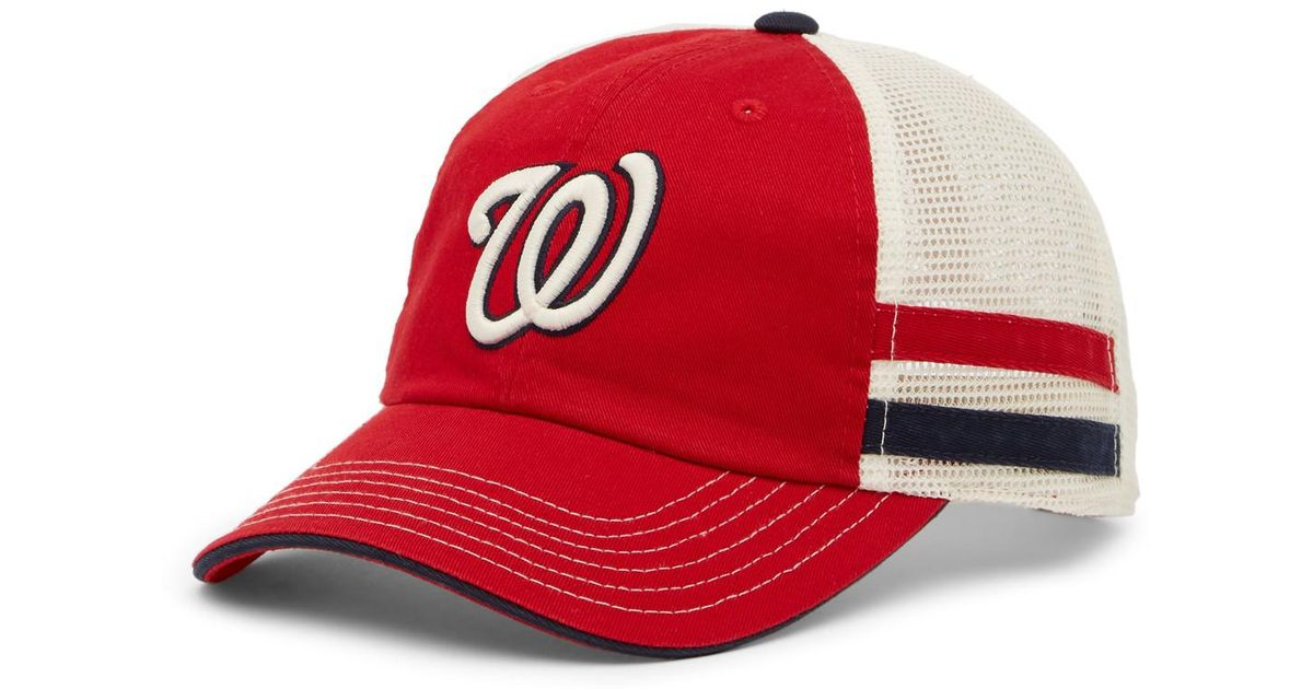 ac37526d66d ... free shipping lyst american needle foundry washington nationals mesh  back baseball cap in red for men