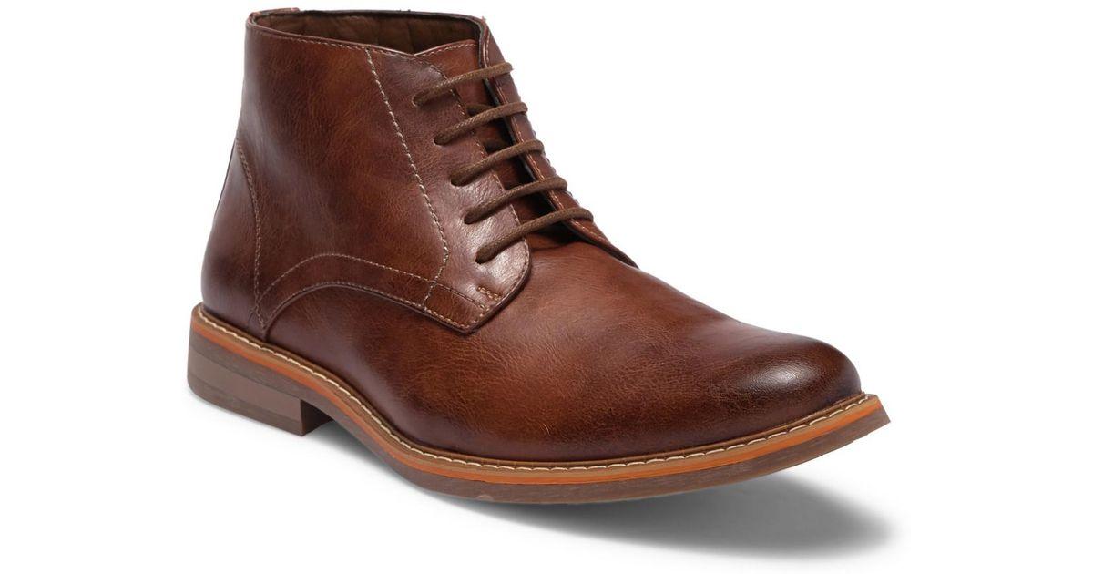 22fa4769ef1 Steve Madden Brown Olden Leather Chukka Boot for men