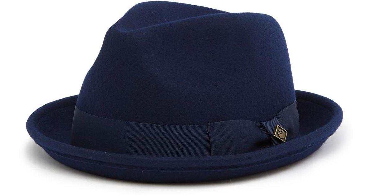 Lyst - Goorin Bros Rude Boy Wool Fedora in Blue for Men 2c8130de495