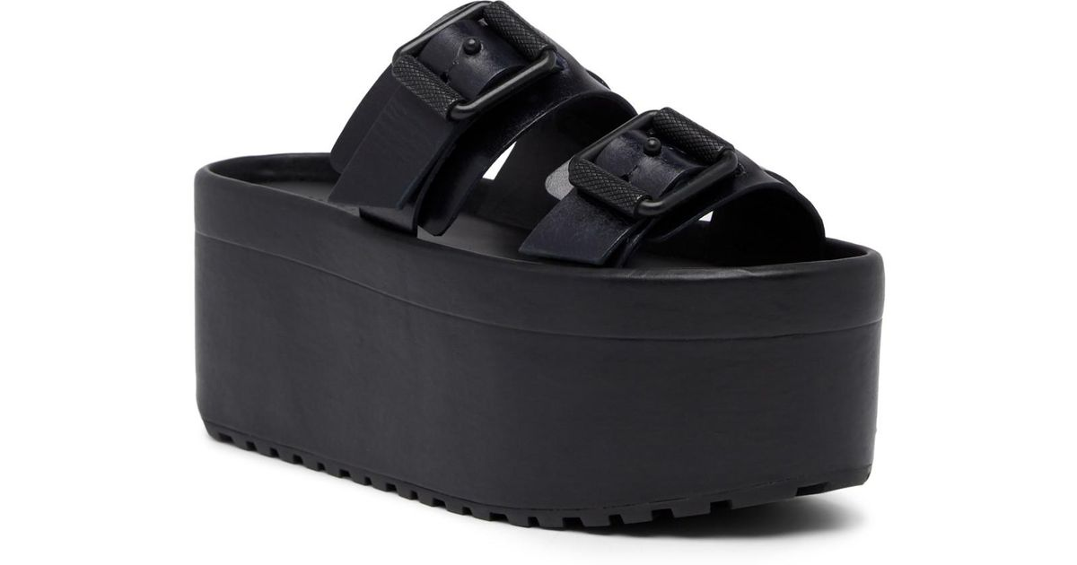 Allsaints Black In Slide Platform Knox Lyst Sandal wPkTOiuXZ