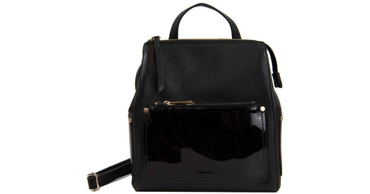 d6f89147303 Perlina Black Judi Leather Convertible Backpack
