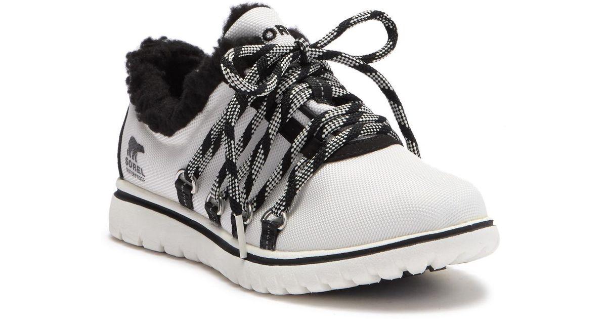 Sorel Cozy Go Faux Fur Sneaker in Black