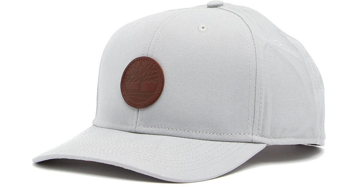 102e2b2ff Timberland Gray 6-panel Leather Patch Baseball Cap for men