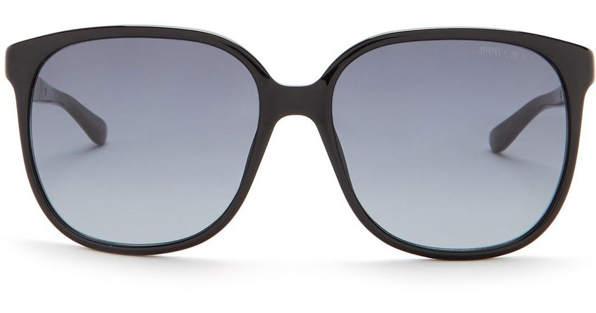 8e3905ddf50 Lyst - Jimmy Choo Women s Paula 51mm Round Sunglasses