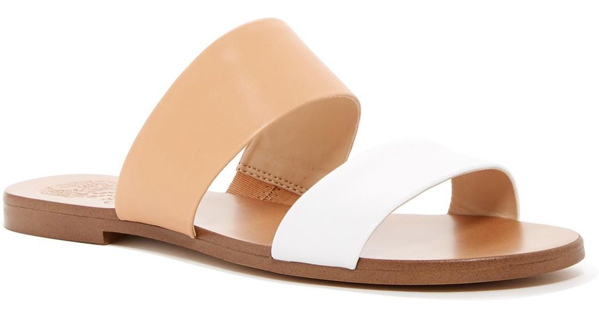 268b402a16b Vince Camuto Rhonda Slip-on Leather Sandal - Lyst