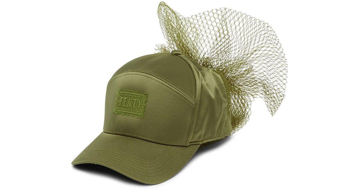 Fenty By Rihanna Net Bow Cap in Green