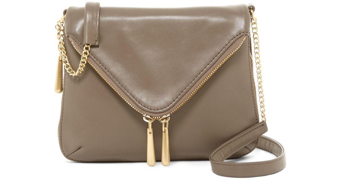 44ef9cece987 Lyst - Hobo City Girl Leather Crossbody Bag